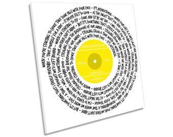 Ocean Colour Scene Robin Hood Song Lyrics Vinyl CANVAS WALL ART Picture Square Print