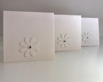 Flower Cards with Gem Stone Centre | Perfect for any Occasion