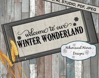 Winter wonderland, Christmas digital download studio file, svg, eps, ai, dxf, pdf files all included