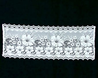 LACE TABLE RUNNER Oblong Floral Crotchet Table Runner Wedding Table Runner Swiss White Lace Doily