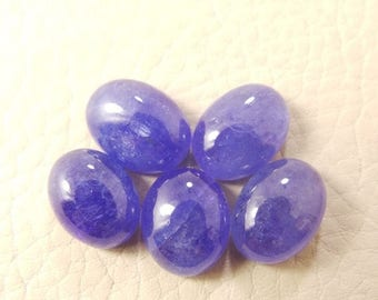 38% OFF Natural Tanzanite Oval Cab, Tanzanite Smooth Oval Shape Cabochon, 10.5-11.5 MM Size 5 Pieces, Loose Gemstone Beads AAA Grade Quality