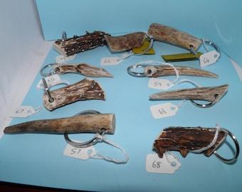 Handmade Deer Antler Keyrings/Charm