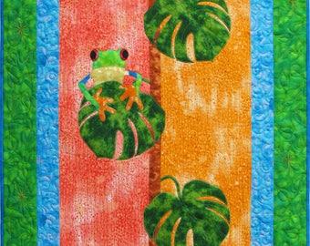Kids Quilt Pattern - Frog Quilt - Quilt Pattern for Boy - Quilt Pattern PDF - Applique Quilt Pattern - Digital Quilt Pattern - PDF Download
