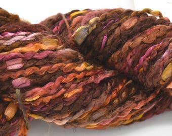 Chunky Yarn - Brown Yarn - Soft Yarn - Yarn for Art - Scarf Yarn - Textured Yarn - Variegated Yarn - Knitting Yarn - Yarn for Weaving - Yarn