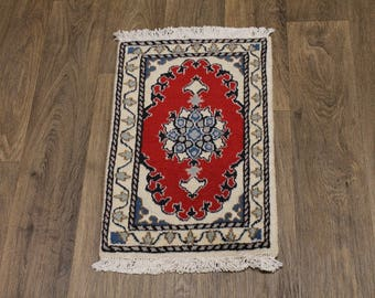 Finest Design Small Handmade Red Nain Persia Area Rug Oriental Carpet 1ʹ4X2ʹ2
