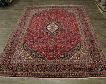 Unique Handmade Najafabad Kashan Design Persian Rug Oriental Area Carpet 10X13