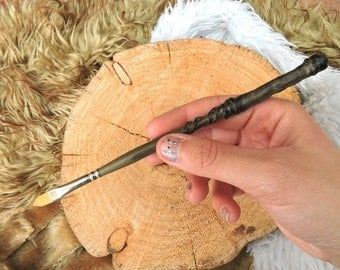 Harry Potter inspired brush, Harry Potter brush, Harry Potter wand, Magic brush, magic brush