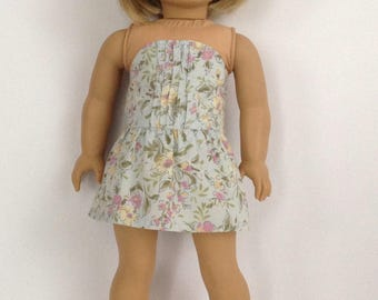 """18"""" doll clothes, Summer Doll Sundress, Pin-tucked Strapless, Floral Print, handmade to fit like american girl doll clothes"""