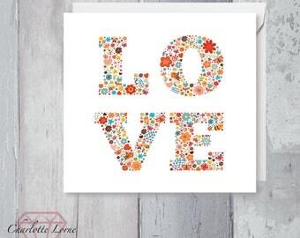 Valentines Day Love Card - Love Card - Boyfriend - Girlfriend- Printable Card - Digital Download File - Love Design
