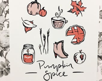 Pumpkin Spice Fall Art Print