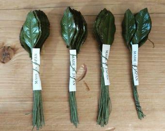 Vintage millinery leaves made in Japan