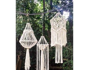 Macrame chandelier, macrame, macramé, boho style, boho decor, bohemian, bohemian decor, macrame decor, chandelier, light fixture