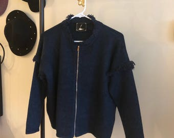 Soft imitation jean coat