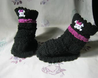 Baby Girls Goth Boots for 3 to 6 months