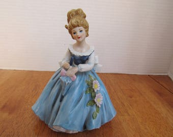 Vintage Marks and Rosenfeld Porcelain Figurine Alfretto by Maruri Blonde Lady Holding Parasol  2481