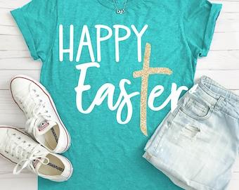 Happy EasTer svg, Easter svg, He is Risen svg, SVG, DXF, EPS, Easter saying svg, Jesus svg, Christian svg, Easter shirt, digital download