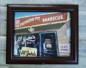 Vintage BBQ advertising - BBQ sign - vintage restaurant - Rustic photo - Southern Barbecue - Vintage - Southern decor, Vintage Southern, Ads