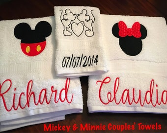 Mickey & Minnie Bathroom Couple's Towels
