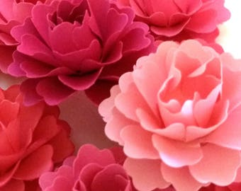 Loose Paper Flowers | Pink Paper Flowers (Set of 40)