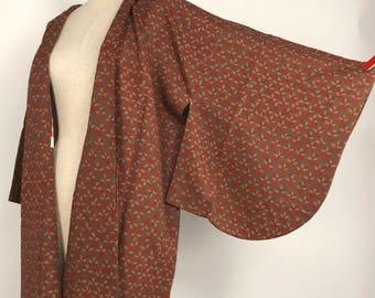 "Japanese K012804 ""Dochugi"" Haori Kimono Jacket Vintage"