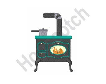 Cooking Stove - Machine Embroidery Design