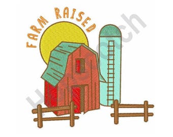 Farm Raised - Machine Embroidery Design