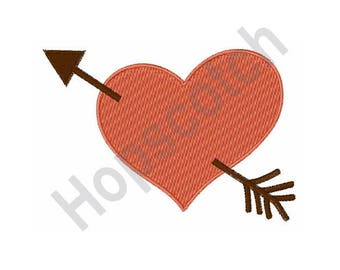 Heart Arrow - Machine Embroidery Design
