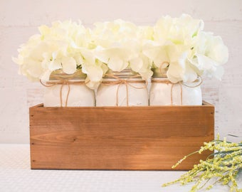 Mason Jar Centerpieces Wedding- Wedding Centerpiece- Rustic Jars Wedding- Rustic Wedding Decor- Painted Mason Jars- Mason Jar Decor