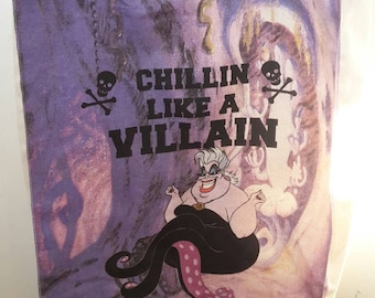 Ursula The Little Mermaid Disney canvas tote bag.