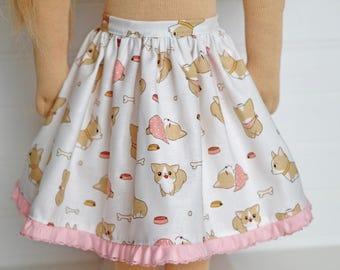 Precious Puppy DOLL Skirt
