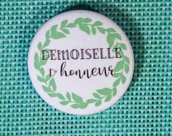 Wedding bridesmaid badge