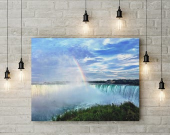 Niagara Falls | digital download | Niagara | Rainbow | Canada | Waterfalls | Digital Print | Wall Art | Wall Decor | Home Decor | Canvas