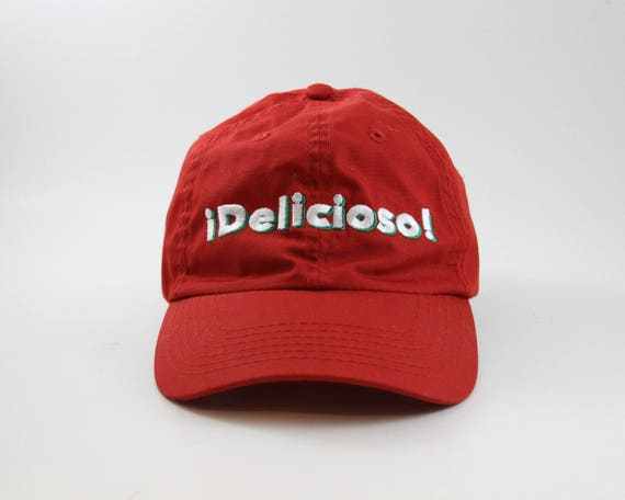 baseball cap significado espanol embroidered red delicious hat white green adjustable in spanish diccionario ingles