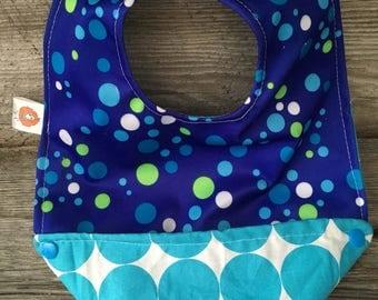 Bib circle scalable bavana round child baby bandana bib blue green