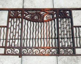 Edgar Brandt French Art Deco wrought iron (fer forgé) grill  160 x 75cm