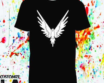 Maverick T-shirt  Logan Paul/customize it/black Maverick Bird/team 10