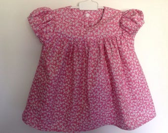 Floral pink sleeves blouse balloon