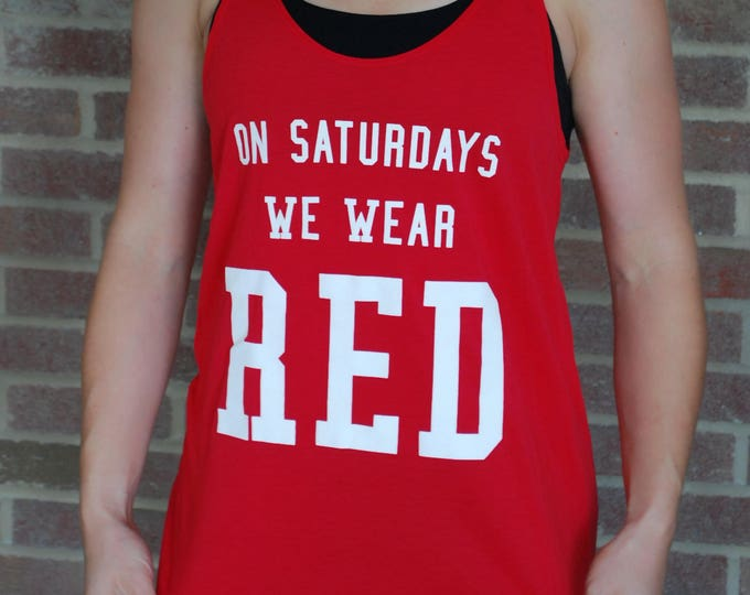 Featured listing image: SALE! On Saturdays We Wear Red Tank