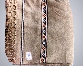 Skin Color Velvet Pure Dussa/Khamdar Shawl