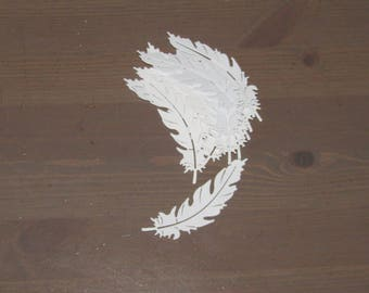 Feather Die-cuts x 15 - Cardmaking, Papercraft, Cards