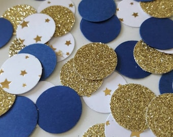 Twinkle Twinkle Little Star Party, Baby Shower Confetti, Star Confetti, Twinkle Twinkle Little Star Baby Shower,  Navy and Gold Confetti