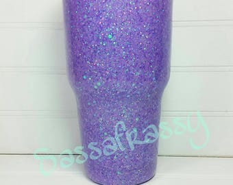 30 oz. Glitter Stainless Steel Tumbler *Lilac Unicorn Holo