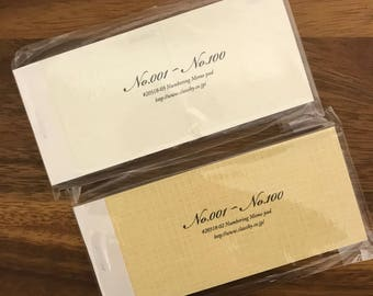 Classiky Numbering Memo Pad kraft paper and dot white paper Discontinued item