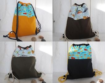 Kitbag maritim orange backpack blue olive brown