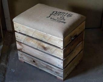 Wooden chest bench