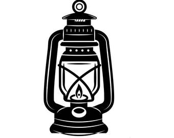 Lantern #1 Kerosene Lamp Light Fire Camping Hiking Hike Hiker Trail Mine Mining .SVG .EPS .PNG Clipart Vector Cricut Cut Cutting Download