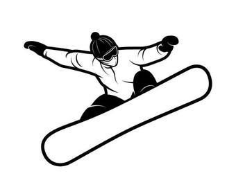 Snowboarding #2 Snowboarder Snow Skiing Helmet Google Mask Winter Extreme Sport Logo.SVG .EPS .PNG Digital Clipart Vector Cricut Cut Cutting