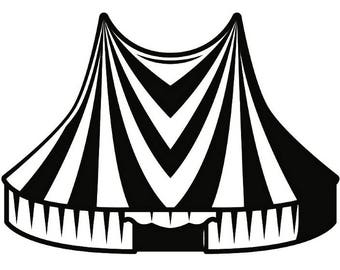 Circus tent clipart | Etsy