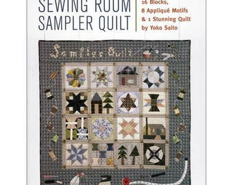 The Sewing Room Sampler Quilt pattern booklet by Yoko Saito