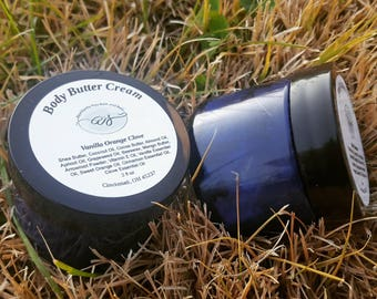 Scented Whipped Butter Hand Cream | 2 fl. oz. | Whipped Body Butter | Pamper Gift | Blue Jar